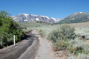Road to Parker Lake trailhead